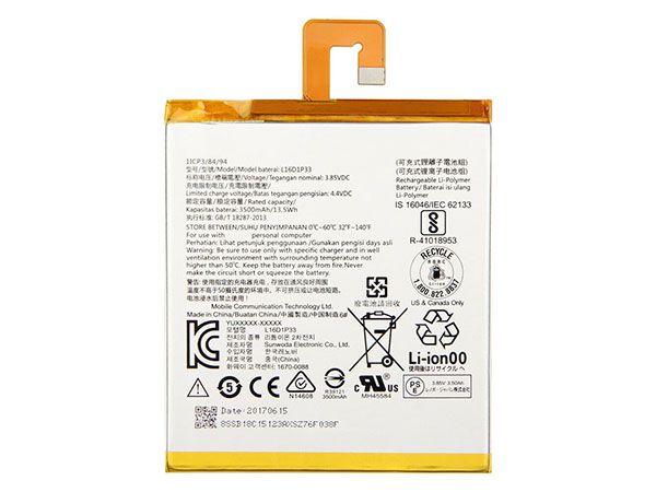 Batteria tablet L16D1P33
