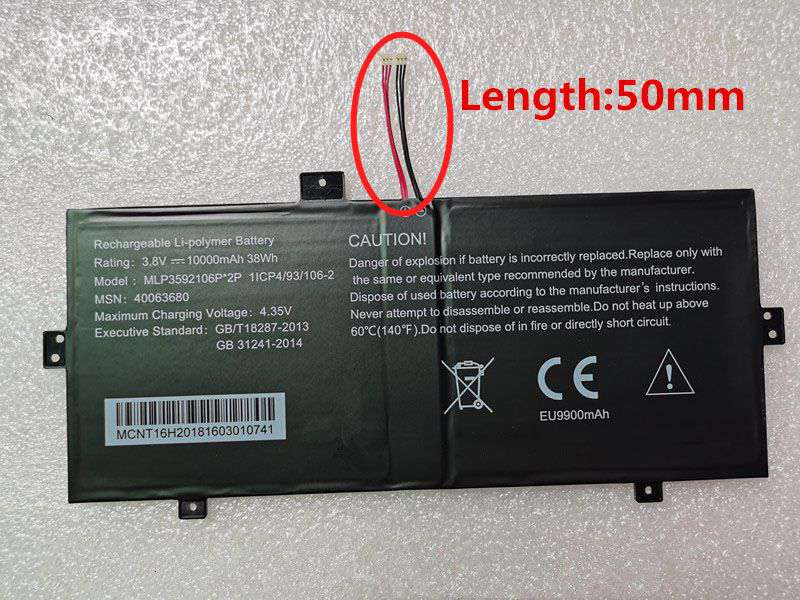 Notebook Batteria MLP3592106P-2P