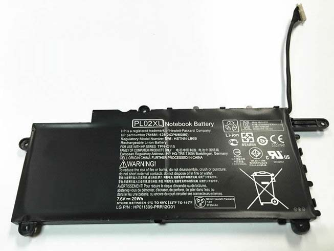 Notebook Batteria PL02XL