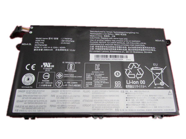 Notebook Batteria L17M3P52