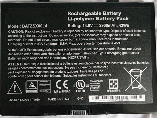 Notebook Batteria BATZSX00L4
