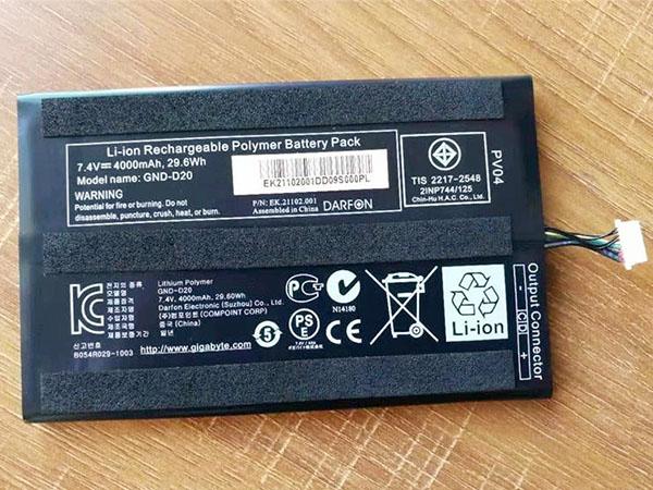 Batteria tablet GND-D20