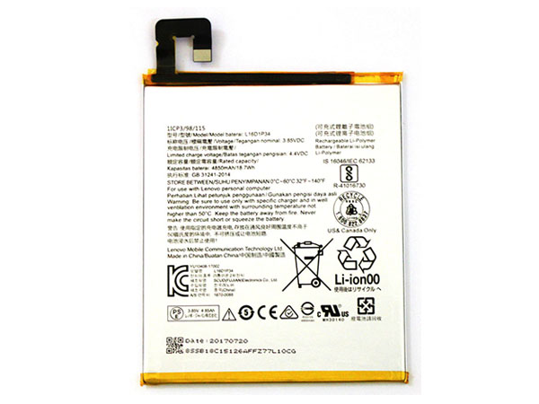 Batteria tablet L16D1P34